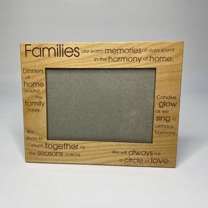 Etched Wood Family Frame